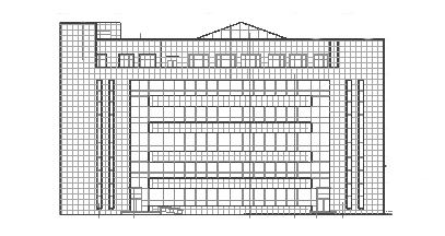 东北某知名大学图书馆建筑CAD图纸