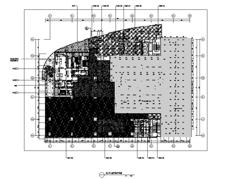 知名地产前海售楼处设计施工图(附效果图+物料清单+软装方案)-地坪饰面图