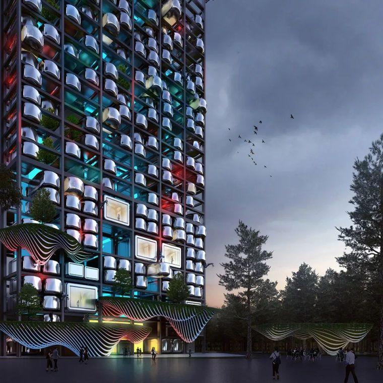 装配式建筑连入自动驾驶技术,未来城市的房子