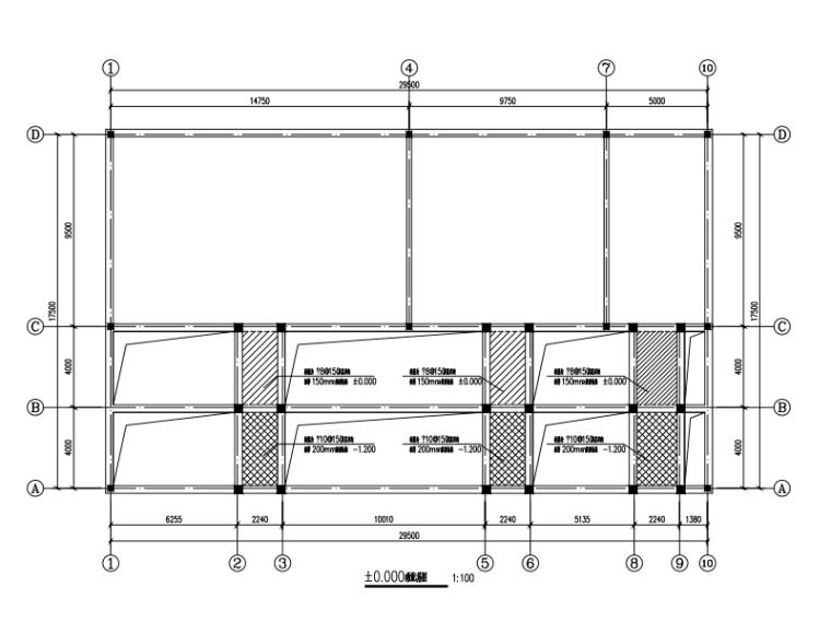 砖混厂房(保鲜库)结构设计图