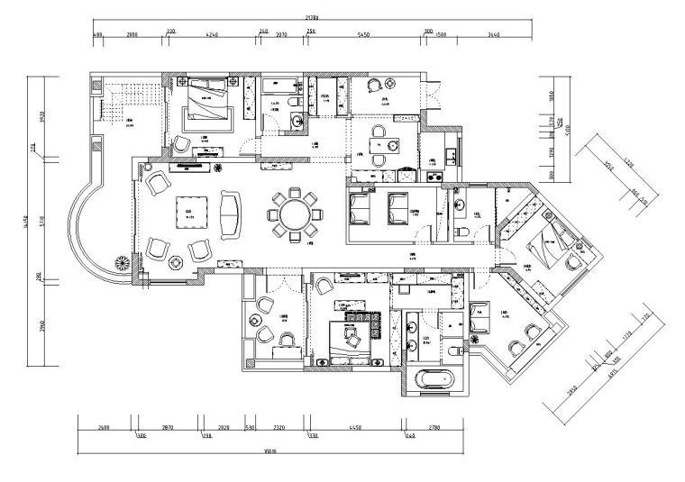 东郊半岛欧式家居施工图设计(附实景图)