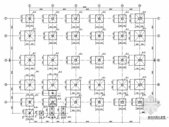 两层框架结构(屋面钢架)小学风雨操场结构施工图
