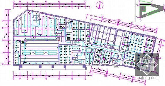 [广东]2015年广场文化活动中心装修工程预算书(附施工图纸)-09三层照明配电平面图