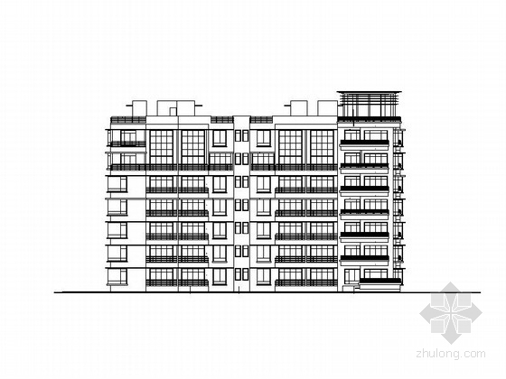 [深圳]现代风格七层住宅建筑施工图(知名设计院)