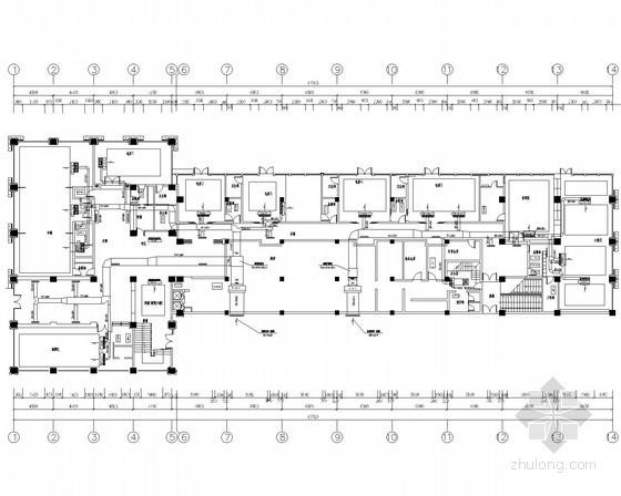 [广州]高档会所中央空调系统设计施工图(水环热泵)