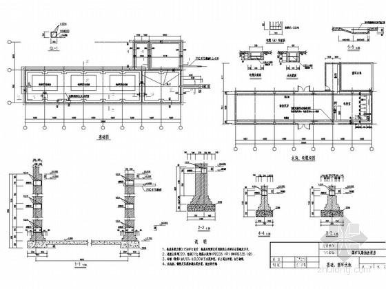 瓦斯泵房施工图(条形基础)