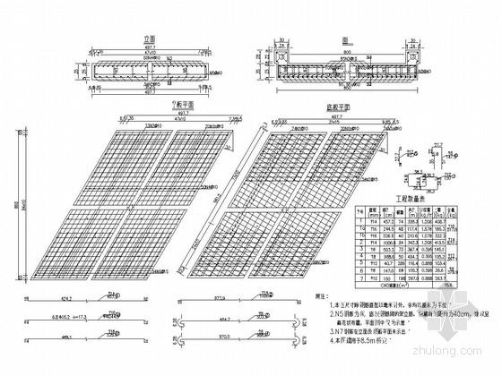 5-10米现浇钢筋混凝土简支板通用设计图(94张)
