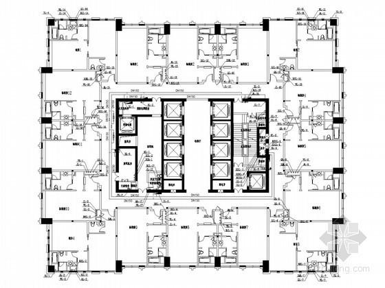 [贵州]150米五星级酒店给排水消防施工图
