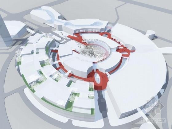 [福建]多层双圆环性商业建筑设计方案文本(知名设计院)