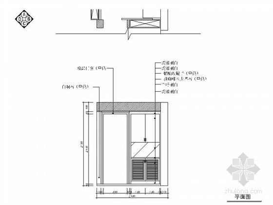 [浙江]现代风格两居室装修施工图(含效果图) 立面图