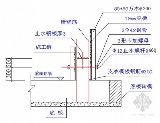 [湖北]剪力墙结构住宅模板支撑安装方案(竹木胶合板)