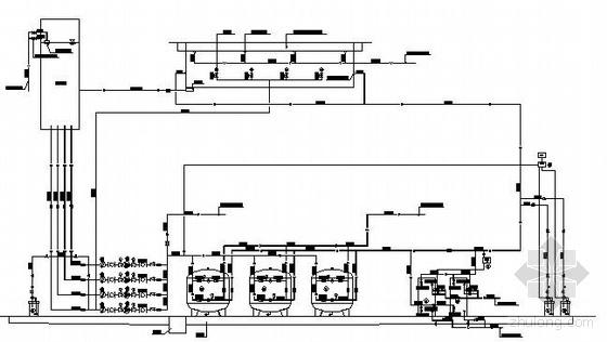 某学校游泳池水处理系统工艺流程图