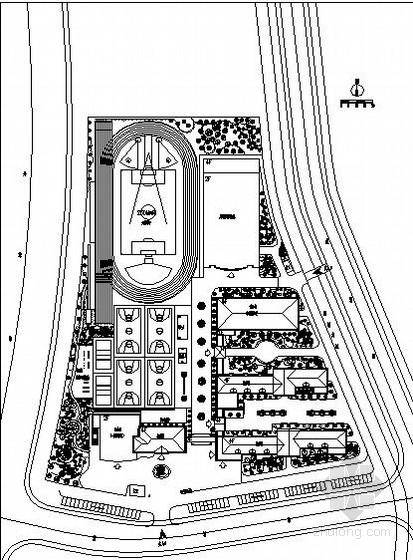 小学校园园林绿化工程施工图