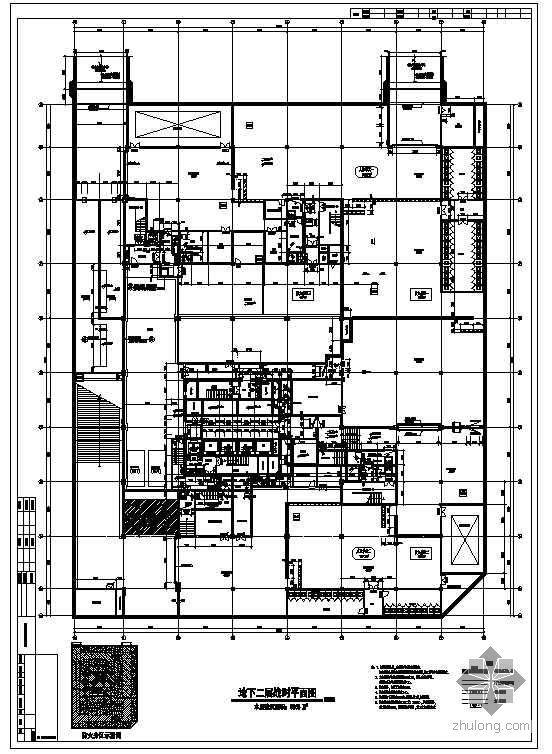 [杭州]某超高层写字楼地下人防工程施工图