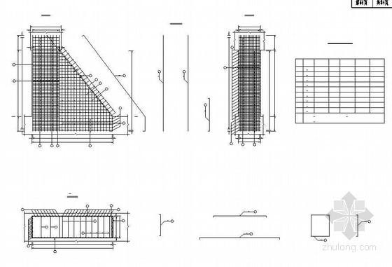 混凝土肋板式桥台肋台身钢筋布置节点详图设计