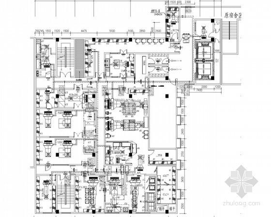 小高层学校食堂餐饮楼空调新风排烟系统设计施工图(平面图全)