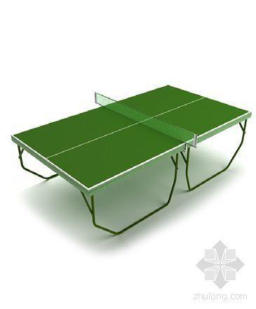 vray材质球素材资料下载-乒乓球桌3