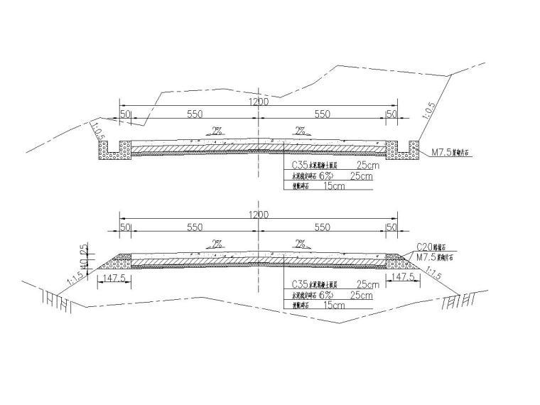 [云南]水泥公司进场专用二级公路路面结构图5张