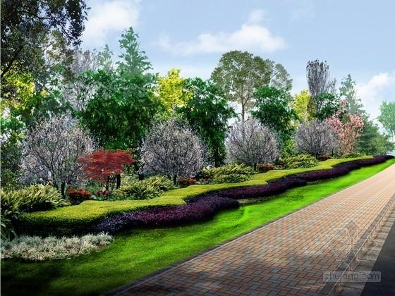 [四川]工业园区周边道路绿化设计方案(原创作品)
