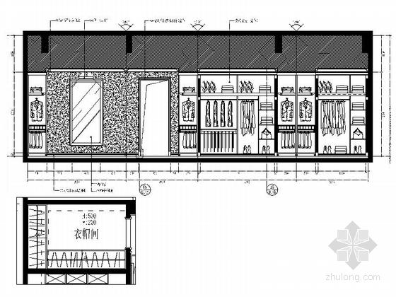 [常州]古典欧式三层别墅样板房装修图(含效果)衣帽间立面图