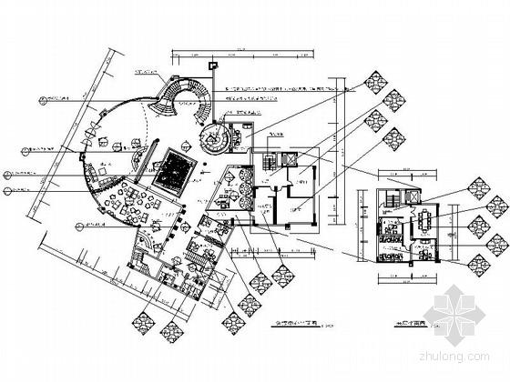 [中山]花园小区高档售楼中心室内CAD装修图(含效果)
