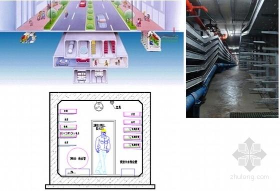 [江苏]单舱结构干支线混合型综合管廊图集106张(含方案设计)