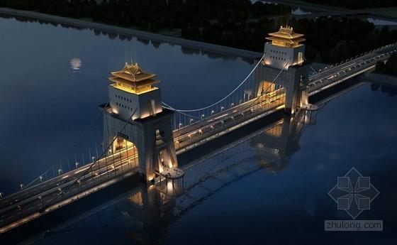 塔楼式双塔自锚式悬索桥主塔及横梁施工技术方案(88页 桥头堡 双层仿古建筑索塔)