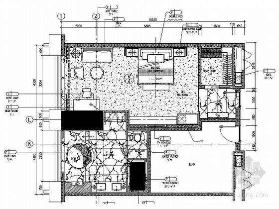 [广东]国际金融中心酒店行政层客房装修施工图