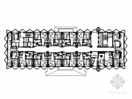 [海南]超大型世界级豪华酒店客房部分室内施工图