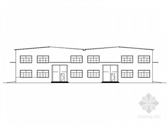 [唐山]简洁工业厂房及办公楼建筑施工图(2016最新)