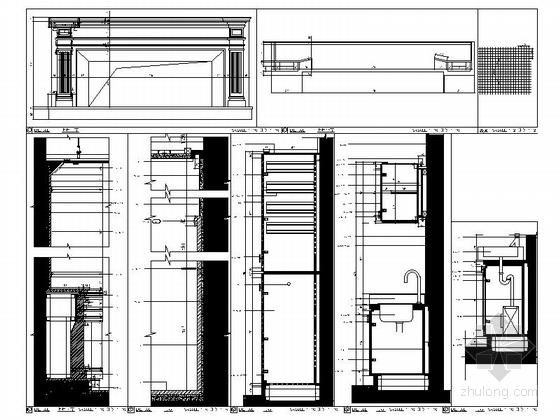 [浙江]高档商务欧式风格娱乐会所室内装修施工图(含效果)节点图