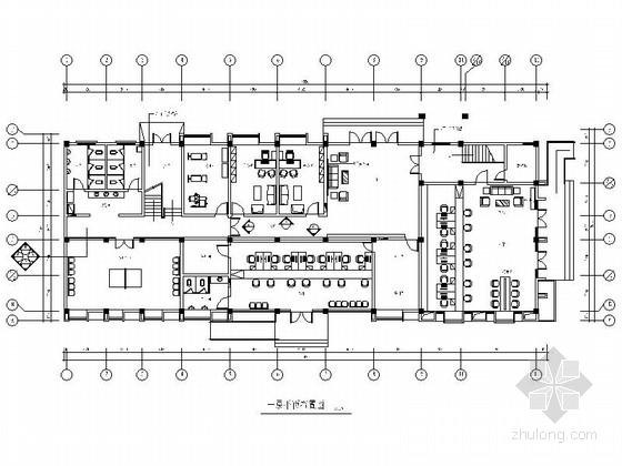 [南京]特色旅游景区街道现代办公楼装修施工图(含效果)
