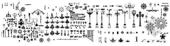 园林装饰灯具CAD图块