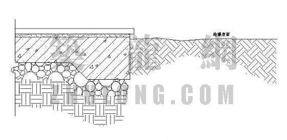 标准齐地面式种植槽详图