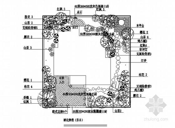 小别墅绿化配置设计方案