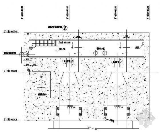 某双机组水电站主厂房设计图
