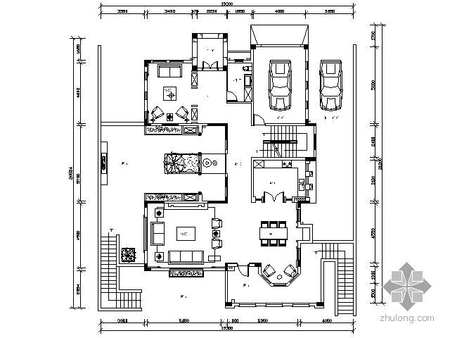 [珠海]新中式风格别墅施工图(含效果)