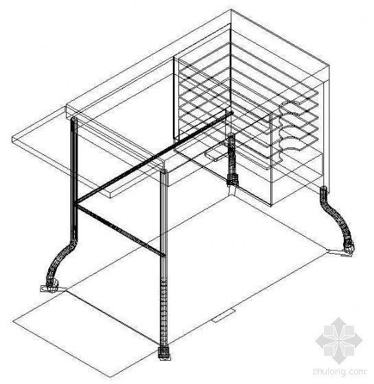 办公家具CAD模型2