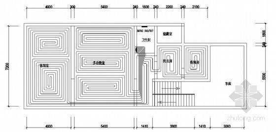 [成都]别墅低温辐射采暖系统设计图