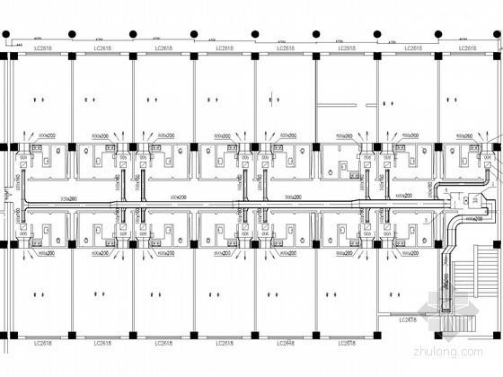 多层宿舍楼建筑空调通风系统设计施工图