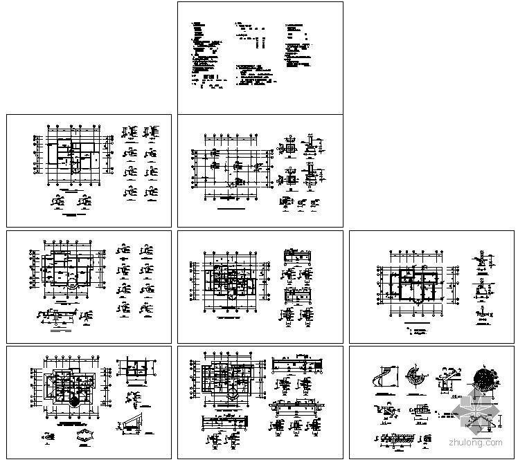 某二层钢结构小别墅结构设计图