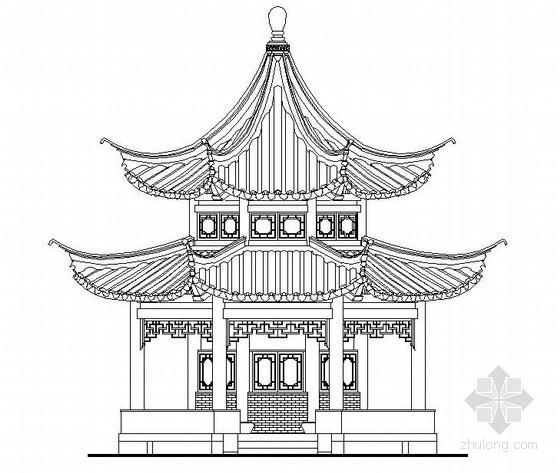 中式古典亭施工图22例