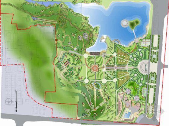 河北迁安公园全套概念性规划设计方案