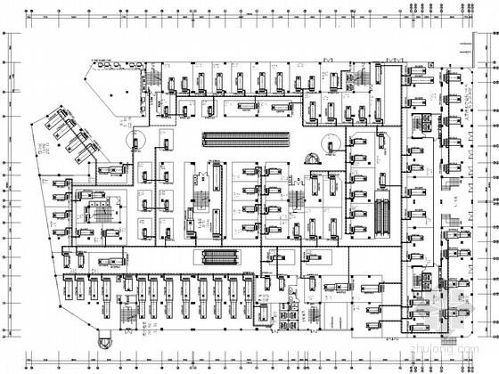 多层商业综合楼空调通风系统设计施工图(风冷模块机组)