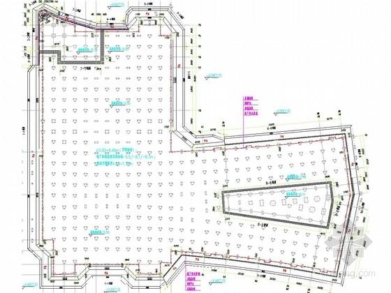 [福建]体育场深基坑加筋水泥土桩锚支护施工图(专家论证)