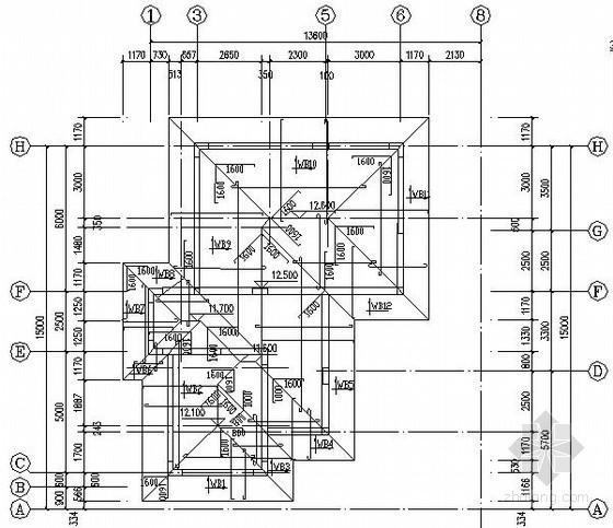 屋顶斜板节点构造详图