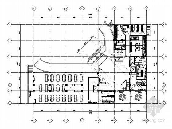 [北京]国家级行政单位现代办公楼装修设计施工图(含水电及暖通图)
