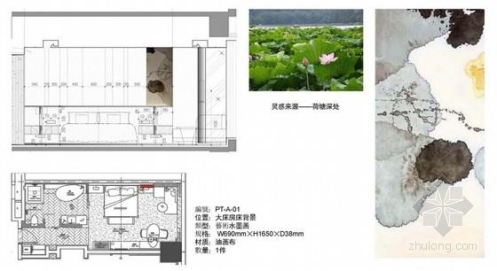 [杭州]国内顶级都市现代国际会议型酒店艺术品设计方案大床房概念图