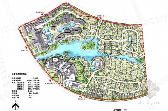 [云南]超五星级花园式酒店建筑设计方案文本(知名设计院)-超五星级花园式酒店建筑设计方案总平面图