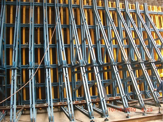 车站主体结构侧墙模板及三角支架专项安全施工方案